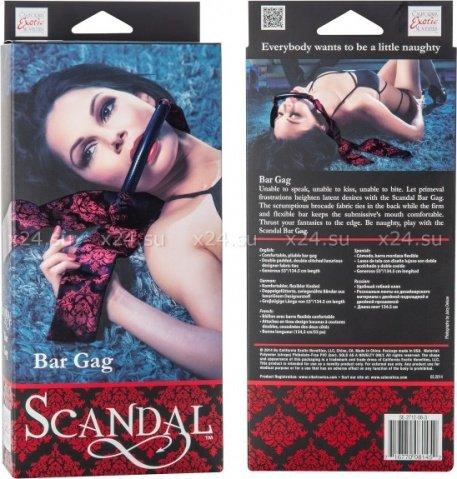 Кляп-бар Scandal Bar Gag черный с красным, фото 2