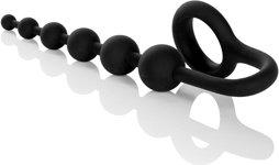 Анальная цепочка colt buddy balls с эрекционным кольцом черная, фото 5