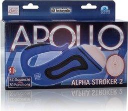 Мастурбатор-вагина Alpha Alpha 2 с вибрацией голубой, фото 5