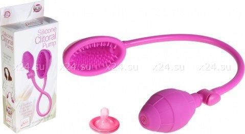 Помпа Silicone Clitoral Pump - Pink из силикона розовая, фото 3
