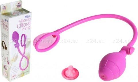 Небольшая клиторальная помпа Mini Silicone Clitoral Pump, фото 3