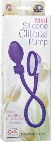 Помпа- мини Mini Silicone Clitoral Pump - Purple из силикона фиолетовая, фото 2