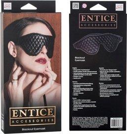 Закрытая маска на глаза Entice Blackout Eyemask, фото 3