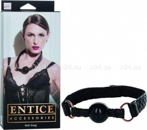 Кляп черный Entice Ball Gag, фото 2