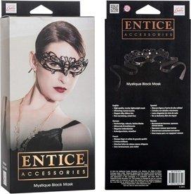 Маска черная из никеля с имитацией кристаллов Entice Mystique Mask - Black, фото 3