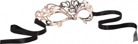 Маска золотистая из никеля с имитацией кристаллов Entice Mystique Mask - Rose Gold