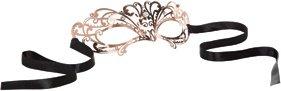 Маска золотистая из никеля с имитацией кристаллов Entice Mystique Mask - Rose Gold, фото 3