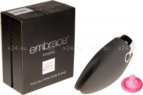 Вибромассажер embrace foreplay перезаряжаемый серый, фото 2