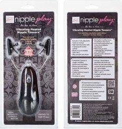Зажимы на соски Heated Nipple Teasers с нагревательным эффектом с вибрацией черные, фото 4