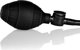 Анальная пробка малая с насосом Booty Call Booty Pumper - Small Black из силикона черная, фото 4