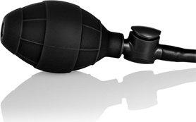 Анальная пробка средняя с насосом Booty Call Booty Pumper - Medium Black из силикона черная, фото 5