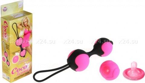 Вагинальные шарики из силикона Coco Licious Kegel Balls - Pink Balls розовые, фото 2