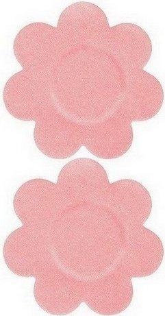 Наклейки на грудь - стикини в форме цветочков. Многоразовые, цвет Розовый