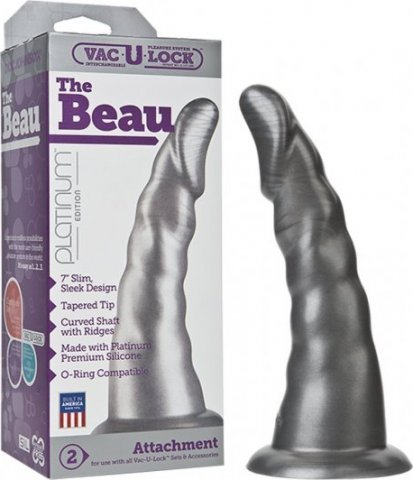 Страпон vac-u-lock the beau 1080-01bxdj 18 см