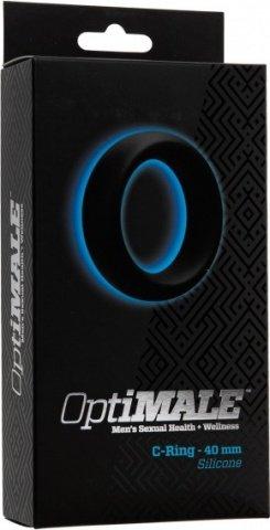 Эрекционное кольцо широкое optimale c-ring thick (40mm) черное, фото 2