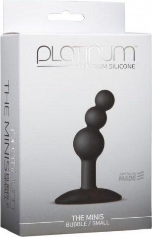 Анальный стимулятор Platinum Premium Silicone - The Mini's Bubble Small - Black S черный, фото 4