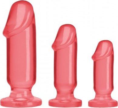 Анальные фаллоимитаторы 3 шт розовые 13 см