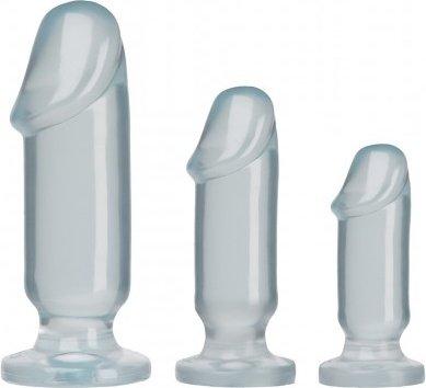 Анальные фаллоимитаторы 3 шт прозрачные 13 см