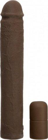 Увеличивающая насадка на пенис коричневая 22 см
