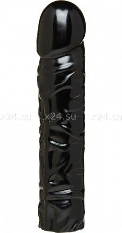 Черная насадка-фаллос для страпон-трусиков 8'' Classic Dong