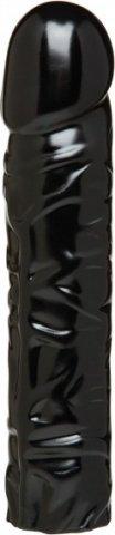 Черная насадка-фаллос для страпон-трусиков 8'' Classic Dong, фото 3