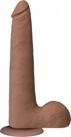 Фаллоимитатор реалистик на присоске 9 светло коричневый съемный Vac-U-Lock