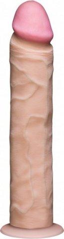 Фаллоимитатор реалистик без мошонки на присоске 10 телесный съемный Vac-U-Lock