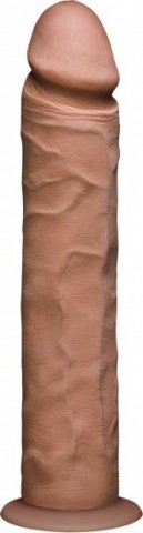 Фаллоимитатор реалистик без мошонки на присоске 10 коричневый съемный Vac-U-Lock