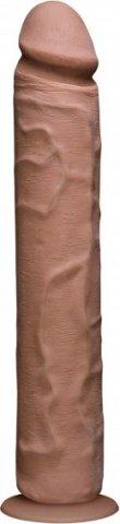 Фаллоимитатор реалистик без мошонки на присоске 12 коричневый съемный Vac-U-Lock