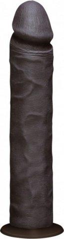Фаллоимитатор реалистик без мошонки на присоске 10 черный съемный Vac-U-Lock