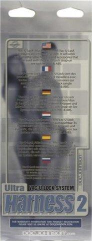 Трусики ultra harness с реалистичной насадкой 6 set 2 1050-02bxdj 18 см, фото 3