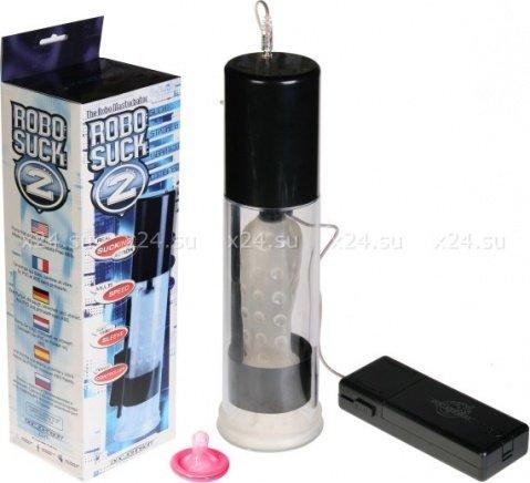 Автоматический мастурбатор с эффектом посасывания, поглаживания и вибрацией Robo Suck