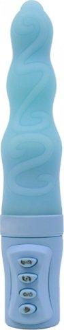 Вибратор squiggles briana голубой 15 см, фото 2