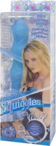Вибратор squiggles briana голубой 15 см, фото 3