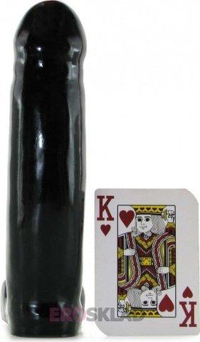 Фаллоимитатор, цвет Черный 15 см, фото 3
