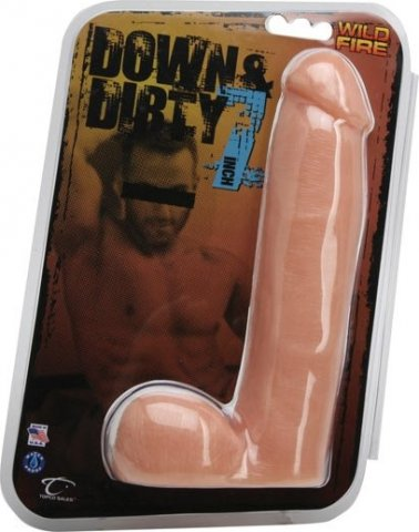 Фаллоимитатор-реалистик Wildfire Down & Dirty 17.5 cm Dong, цвет Телесный 20 см, фото 2