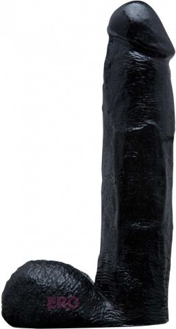 Фаллоимитатор-реалистик, цвет Черный 20 см