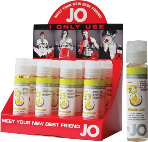 Съедобный любрикант ''Банан'' (шоу-бокс: 12 шт. по 30 мл). JO H2O Lubricant