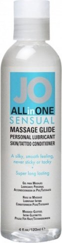 Массажный гель-масло ALL-IN-ONE Massage Oil Sensual нейтральный 120 мл, фото 2