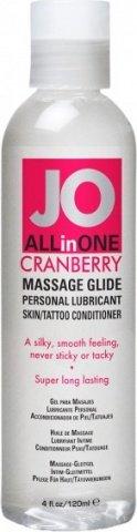 Массажный гель-масло ALL-IN-ONE Massage Oil Cranberry клюквенный 120 мл, фото 2