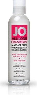 Массажный гель-масло ALL-IN-ONE Massage Oil Cranberry клюквенный 120 мл, фото 3