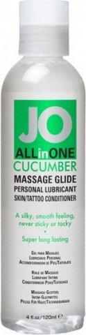 Массажный гель-масло ALL-IN-ONE Massage Oil Cucumber огуречный 120 мл, фото 2