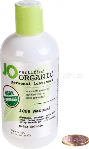 Гипоаллергенный натуральный любрикант organic на водной основе 240 мл, фото 2