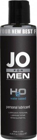 Мужской любрикант на водной основе JO for Men H2o 125 мл, фото 2