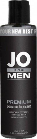 Мужской силиконовый любрикант JO for Men Premium 125 мл, фото 2