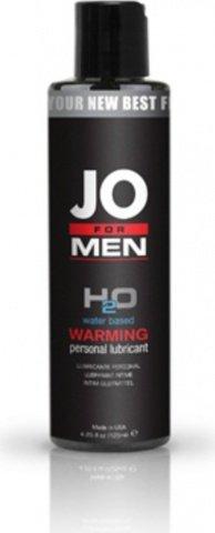 Мужской согревающий любрикант на водной основе JO for Men H2o Warm 125 мл