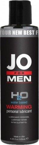 Мужской согревающий любрикант на водной основе JO for Men H2o Warm 125 мл, фото 2