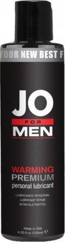Мужской согревающий силиконовый любрикант JO for Men Premium Warm 125 мл, фото 2