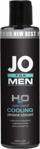 Мужской охлаждающий любрикант на водной основе JO for Men H2o Cooling (125 мл), фото 3