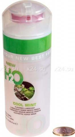 Ароматизированный любрикант на водной основе JO Flavored Cool Mint H2O 160 мл